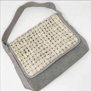 Laura Di Maggio Gray Woven Leather Bag